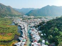 Aerial view of Tai O, village Stock Image