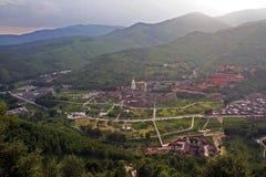 Aerial view of Taihuai (Wutai shan), China Stock Photos