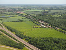 Aerial view of Takeley. Essex, England, UK Royalty Free Stock Photos