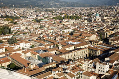 An aerial view taken from the Dome of Florence Stock Photos