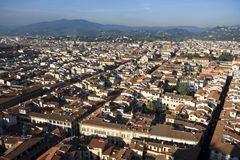 An aerial view taken from the Dome of Florence Stock Photo