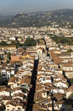 An aerial view taken from the Dome of Florence Stock Image