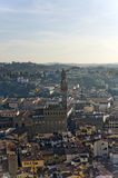 An aerial view taken from the Dome of Florence Stock Photography