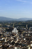 An aerial view taken from the Dome of Florence Stock Images