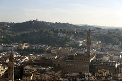 An aerial view taken from the Dome of Florence Royalty Free Stock Photos