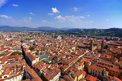 An aerial view taken from the Dome of Florence Royalty Free Stock Photo