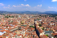 An aerial view taken from the Dome of Florence. Royalty Free Stock Photos