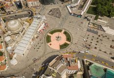 Aerial view of Taksim Square. In Istanbul Stock Photo