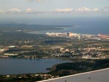 Aerial view of Tallinn city suburbs Stock Photos