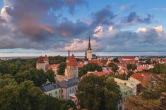 Aerial view of Tallinn, Estonia Royalty Free Stock Photos