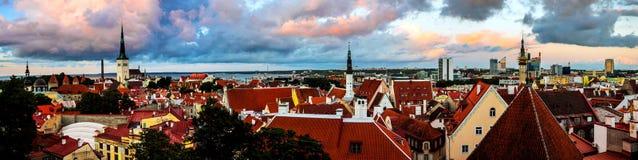 Aerial view of Tallinn old town, Estonia Stock Photo