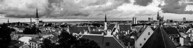 Aerial view of Tallinn old town, Estonia Royalty Free Stock Photos