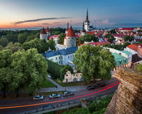 Aerial View of Tallinn Old Town from Toompea Hill Royalty Free Stock Photos