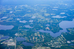 Aerial view of tampa bay beach Royalty Free Stock Images