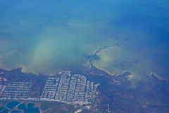 Aerial view of tampa bay beach. Aerial view of  Tampa bay beach in Florida, USA Royalty Free Stock Image