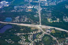 Aerial view of tampa city stock images