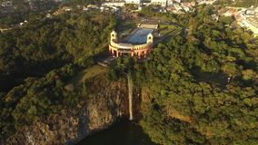 Aerial view of Tangua Park. CURITIBA, PARANA/BRAZIL. July, 2017. Aerial view of Tangua Park. CURITIBA, PARANA/BRAZIL. July, 2017 stock video footage