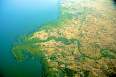 Aerial view of Tanzania stock images