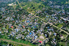 Aerial view of Tanzania Stock Photography