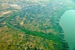 Aerial view of Tanzania Stock Photo