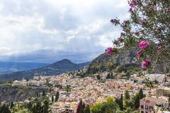 Aerial view of Taormina, Sicily, Italy Royalty Free Stock Image