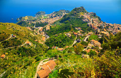 Aerial view of Taormina Royalty Free Stock Photography