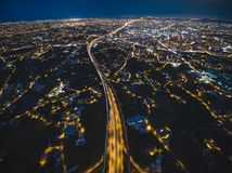 Aerial View of Taoyuan City Royalty Free Stock Photography