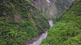 Taroko Gorge National Park in Taiwan. Aerial View. Aerial View of Taroko Gorge National Park in Taiwan shot with a DJI Mavic fps 29,97 4k stock footage