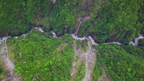 Taroko Gorge National Park in Taiwan. Aerial View. Aerial View of Taroko Gorge National Park in Taiwan shot with a DJI Mavic fps 29,97 4k stock video