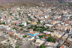 Aerial view of Tarrafal city in Santiago island in Cape Verde - Stock Photography
