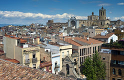 Aerial view of Tarragona. Spain stock image