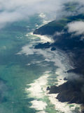 Aerial view of Tasman Sea shore NZ North Island Stock Photo