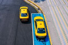 Aerial view of Taxis in Taipei Royalty Free Stock Images