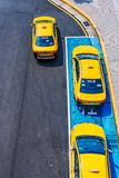 Aerial view of Taxis in Taipei Stock Photography