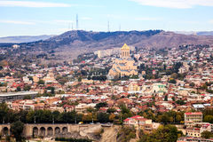 Aerial view of Tbilisi Royalty Free Stock Photo