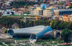 Aerial view in Tbilisi royalty free stock photography