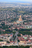 Aerial view of Tbilisi, Georgia Royalty Free Stock Image