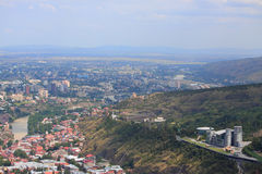 Aerial view of Tbilisi, Georgia Royalty Free Stock Images