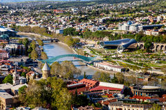 Aerial view of Tbilisi, Georgia Royalty Free Stock Photo