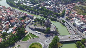 Aerial view of Tbilisi stock video