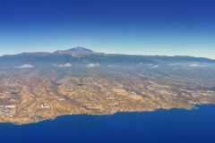 Aerial View of Teide Volcano in Tenerife Stock Image
