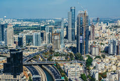 Aerial view in Tel Aviv Royalty Free Stock Images