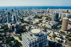 Aerial view in Tel Aviv Royalty Free Stock Image