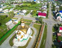 Aerial view on temple in honor of the Ascension, Royalty Free Stock Images