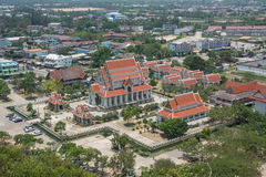 Aerial view of temple in Prachuap Khiri Khan , Thailand Stock Photography
