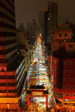 Aerial view of the Temple Street in Hong Kong Stock Photography