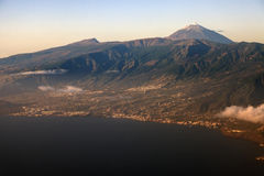Aerial view of Tenerife with Teide Stock Image
