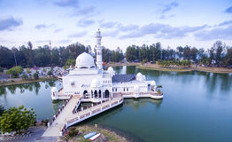 Aerial view tengku zaharah mosque Royalty Free Stock Photo