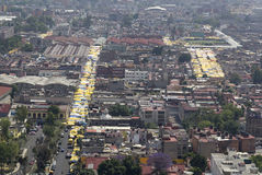 Aerial view of tepito in mexico city Royalty Free Stock Image