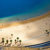 Aerial view on Teresitas beach, Tenerife, Canary islands, Spain Royalty Free Stock Image